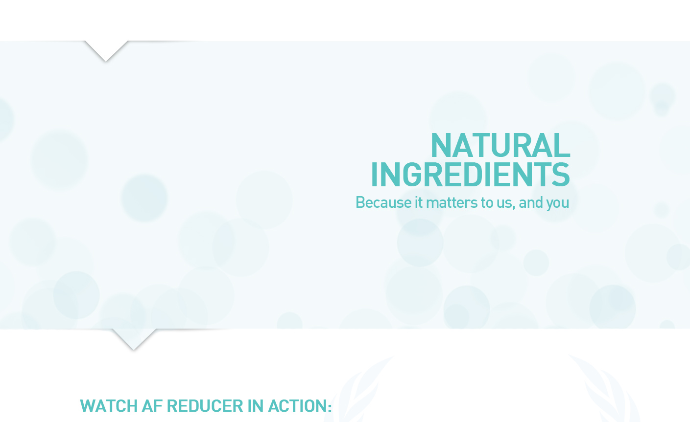 Natural Ingredients of AF Reducer Alcohol Flush